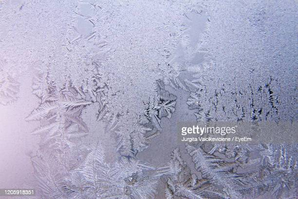 frosted glass texture background. winter, cold weather concept - frost stock pictures, royalty-free photos & images