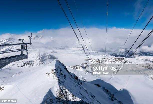 frosted wind gauge at matterhorn glacier paradise cable car station (klein matterhorn, switzerland) - klein foto e immagini stock