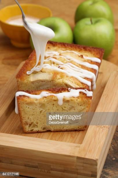 Frosting A Buttermilk Apple Loaf