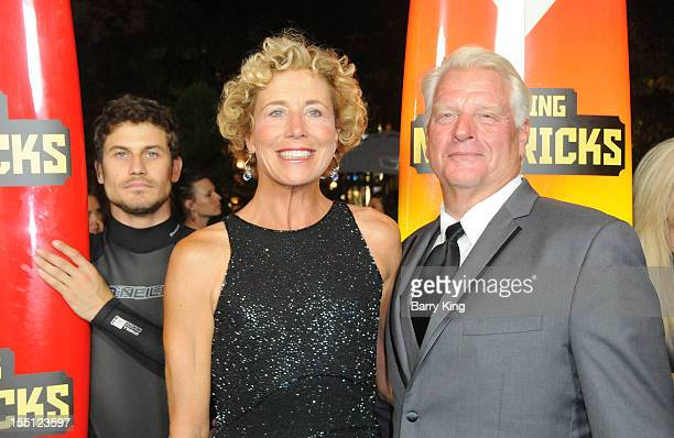 Frosty Hesson and guest arrive at the Los Angeles Premiere of Chasing Mavericks at Pacific Theaters at the Grove on October 18 2012 in Los Angeles...