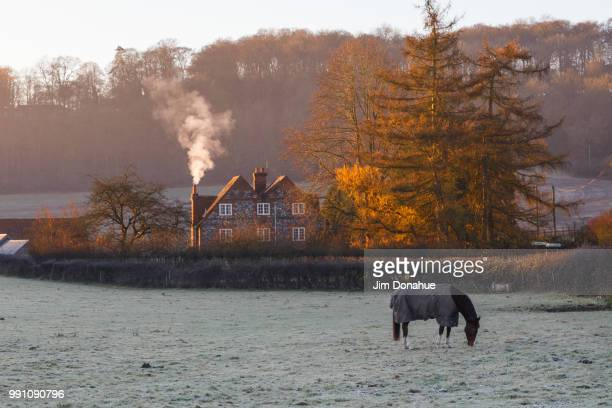 frosty morning view, near henley - jim donahue stock pictures, royalty-free photos & images