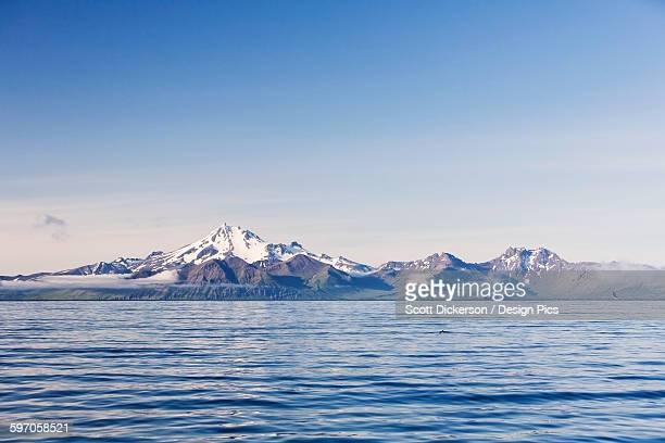 Frosty Peak Volcano On The Alaska Peninsula In Summertime