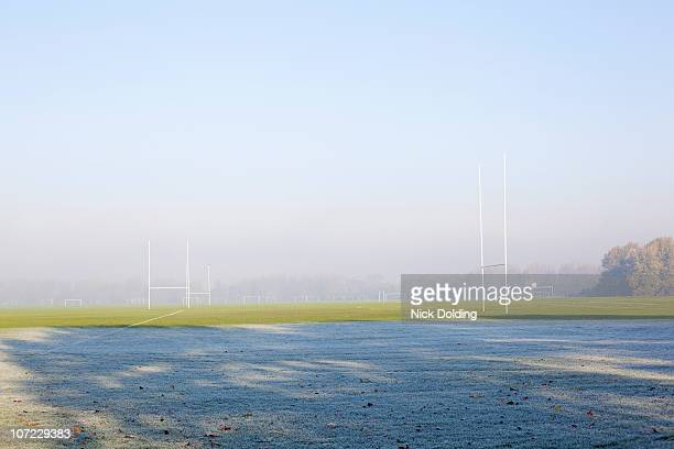 Frosty rugby pitches