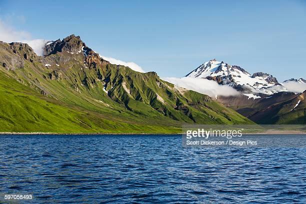 Frosty Volcano Near Cold Bay On The Alaska Peninsula In Summertime