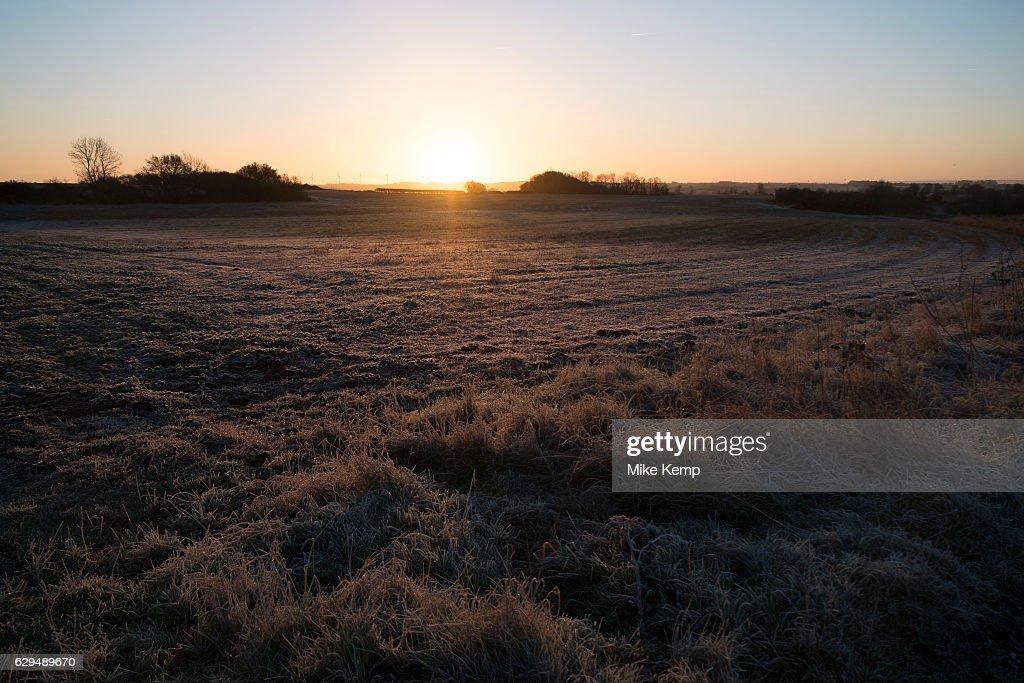Frosty Morning Winter Landscape In Olney : News Photo