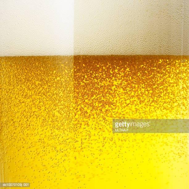 Frothy beer, full frame