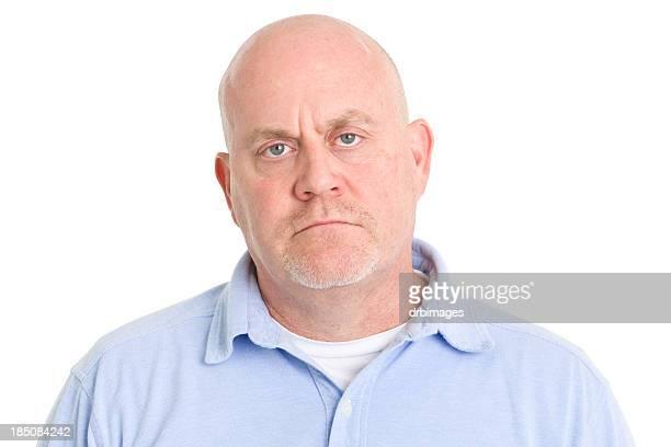 Frowning Mature Man Headshot