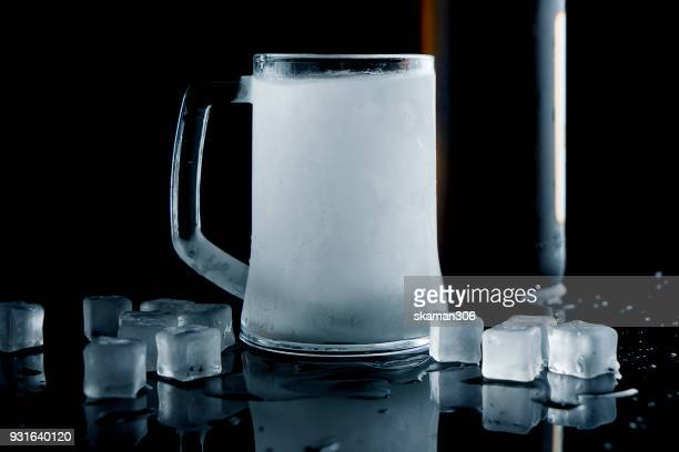 frozen beer mug - frost stock pictures, royalty-free photos & images