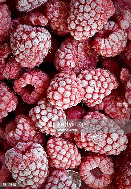 frozen berries - frozen stock pictures, royalty-free photos & images