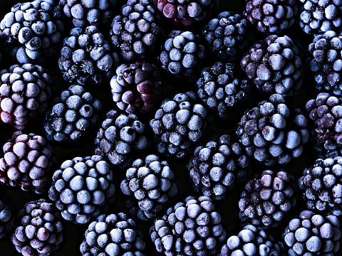 Frozen Blackberries - gettyimageskorea