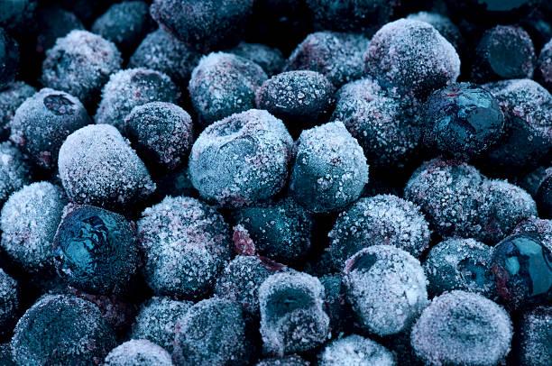 frozen blueberries - 藍莓 個照片及圖片檔
