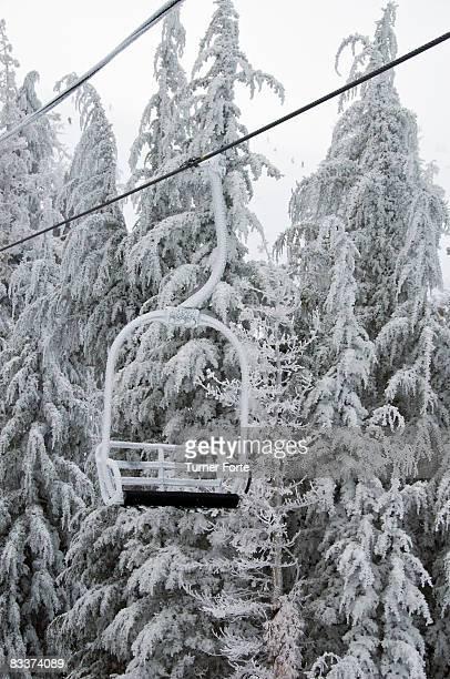 Frozen chair lift