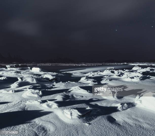 frozen coastline - ice floe stock pictures, royalty-free photos & images