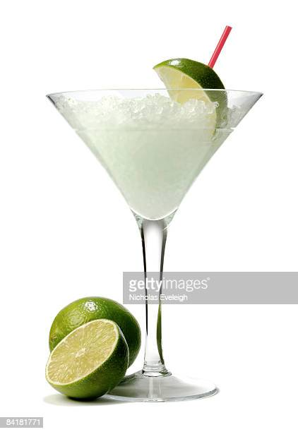 Frozen cocktail drink with limes