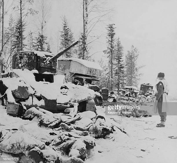 Frozen Corpses Of Russian Soldiers In Soviet Finnish War