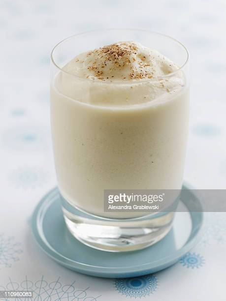 frozen egg nog - eggnog stock photos and pictures