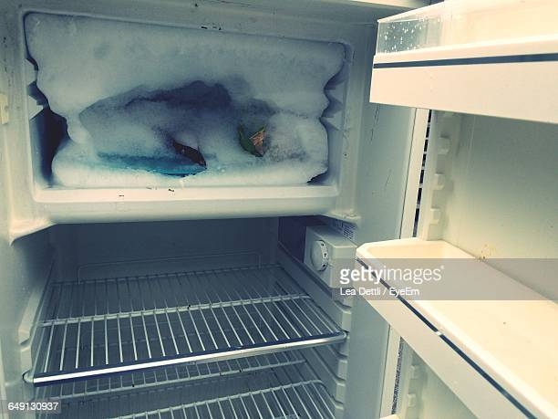 Frozen Freezer Of Refrigerator