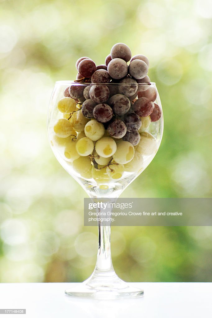 Frozen grapes : Stock Photo