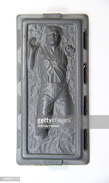 frozen in carbonite - han solo stock pictures, royalty-free photos & images