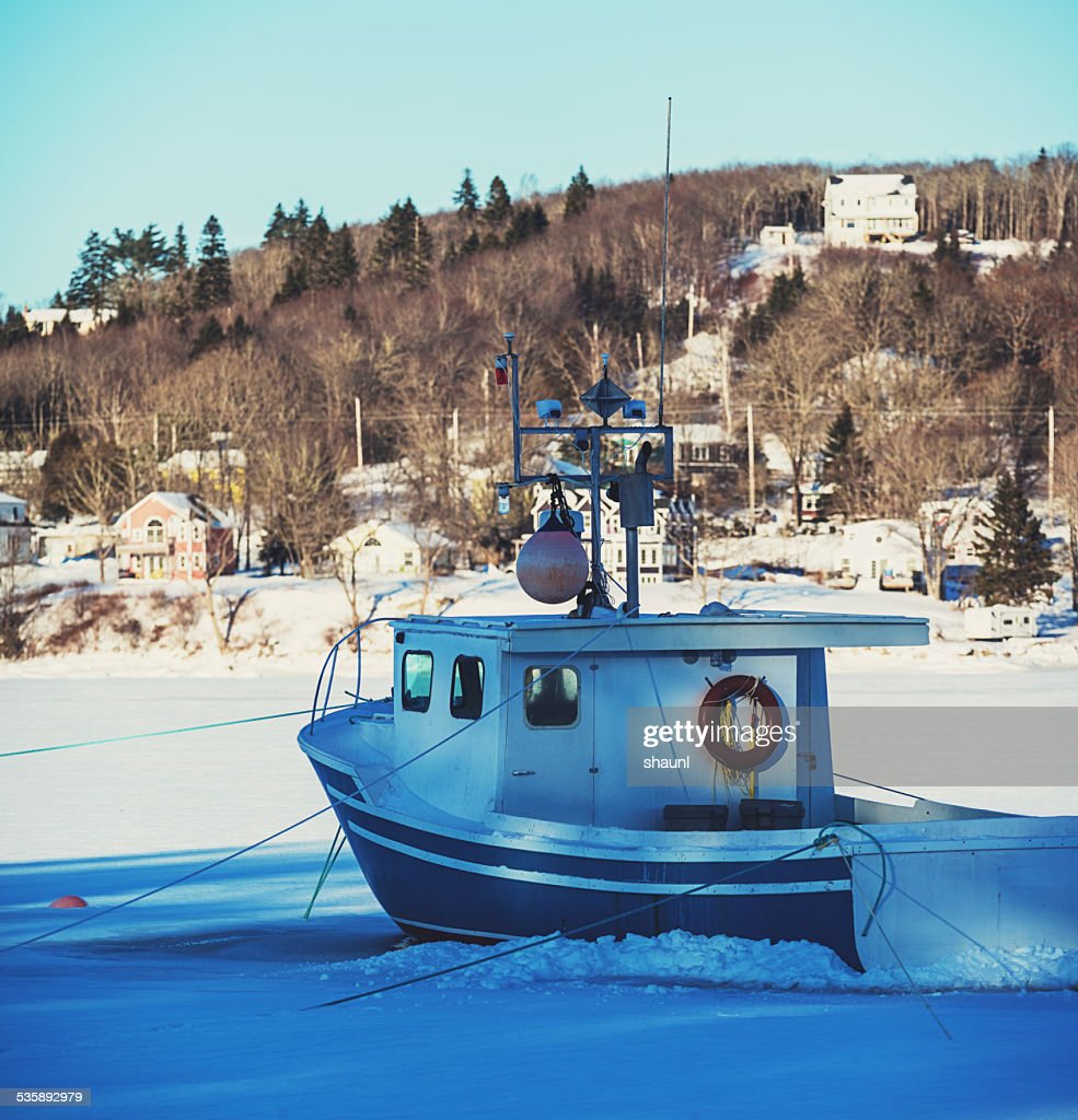 Frozen in the Cove : Stockfoto