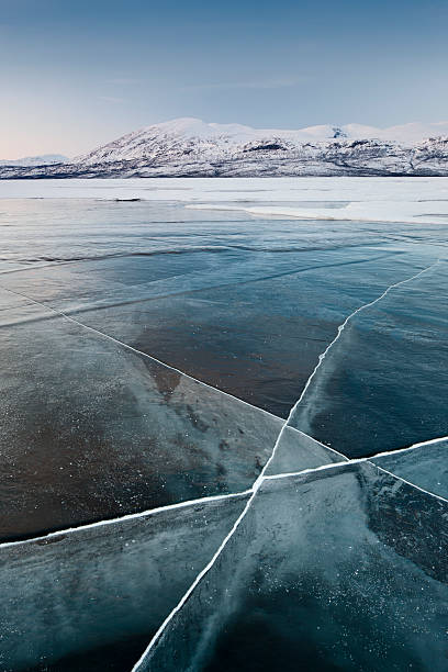 Frozen lake, Abisko, Sweden