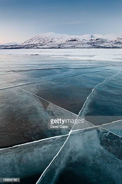 Frozen lake, Abisko, Sweden