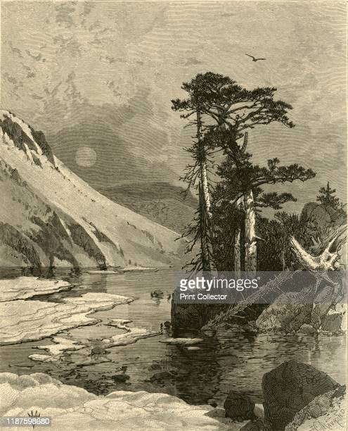 Frozen Lake Foot of James's Peak' 1874 Pikes Peak in the Rocky Mountains USA It was formerly known as James Peak in honor of Edwin James who climbed...