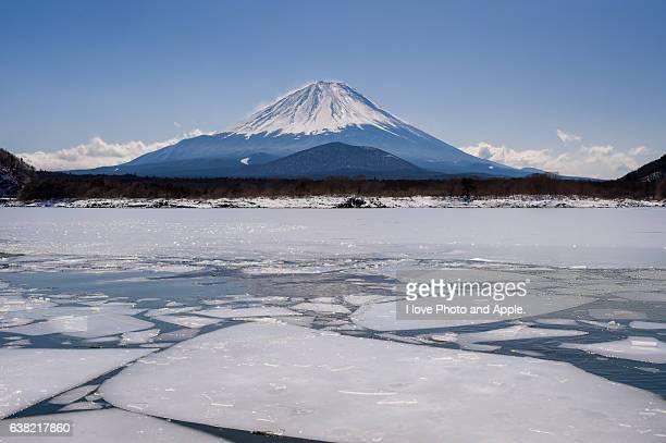 Frozen Lake Shoji and Fuji