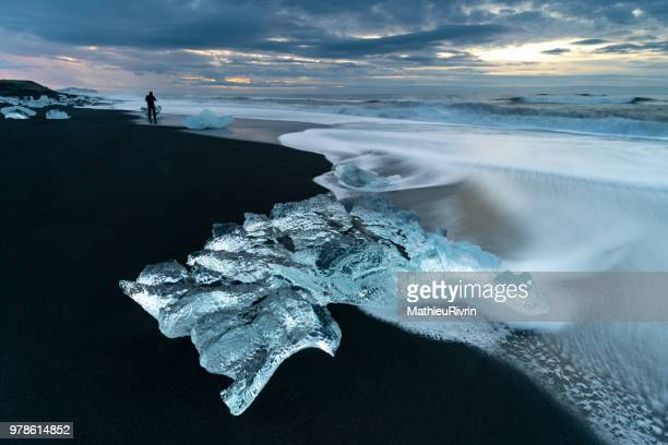 Frozen landscapes in Jokulsarlon, Iceland