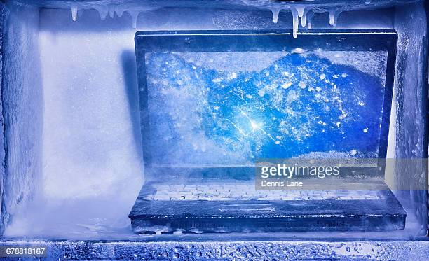 Frozen laptop computer