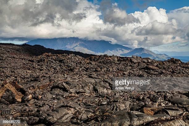 Frozen lava of Tolbachik volcano, Kamchatka
