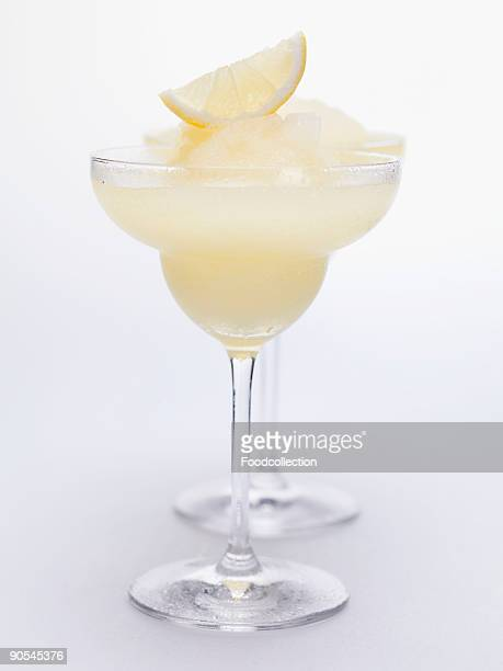 Frozen Lemon Margaritas, close up