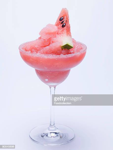 Frozen Margarita with watermelon, close up