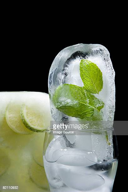 Frozen mint and lime
