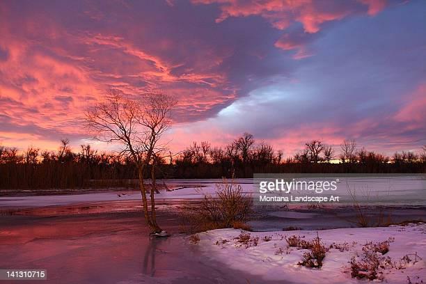 Frozen Missouri River
