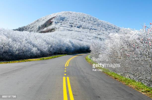 Frozen mountains on the Blue Ridge Parkway