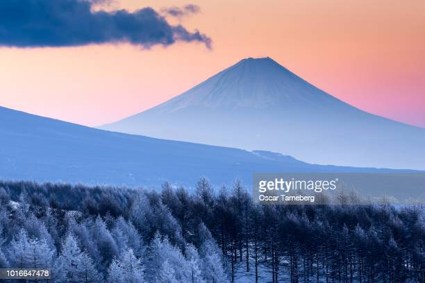 Frozen Mt. Fuji at dawn