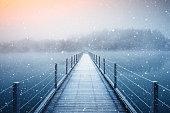 Frozen Path On A Beautiful Winter Day