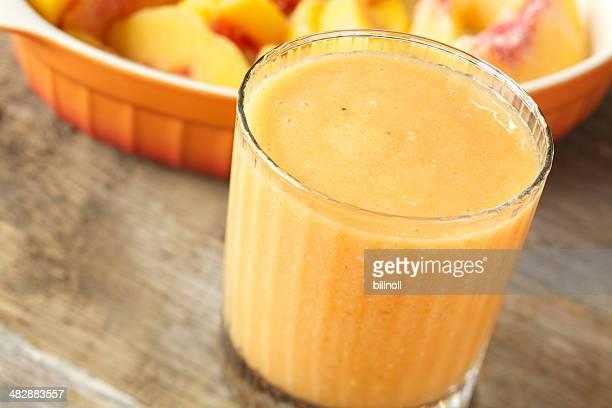 Frozen peach smoothie drink