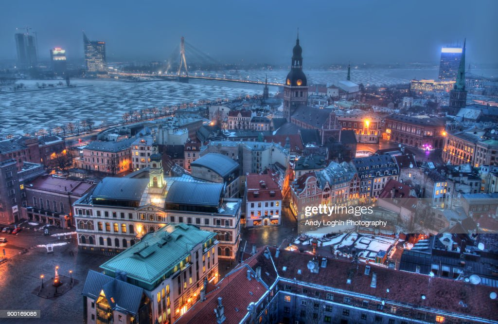 Frozen Riga : Stock Photo