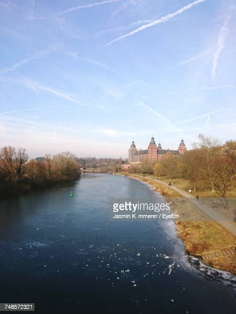 Frozen River Against Sky At Aschaffenburg