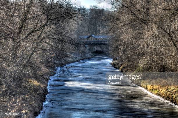 frozen river - landschaft stock pictures, royalty-free photos & images