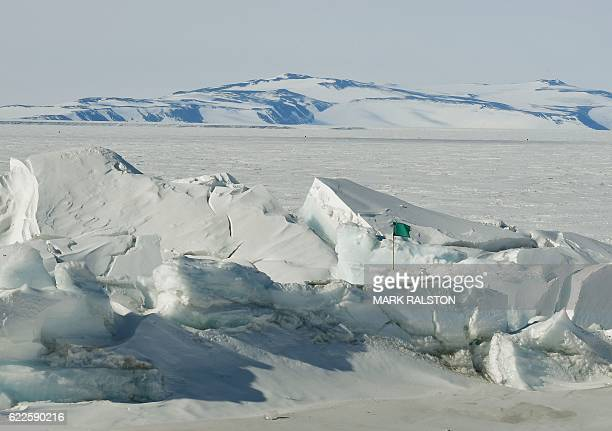 A frozen section of the Ross Sea at the Scott Base in Antarctica on November 12 2016 Kerry is travelling to Antarctica New Zealand Oman the United...