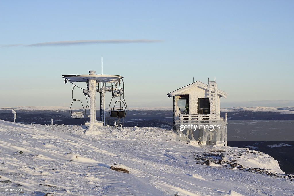 Frozen Ski Resort Trysil, Norway : Stock Photo