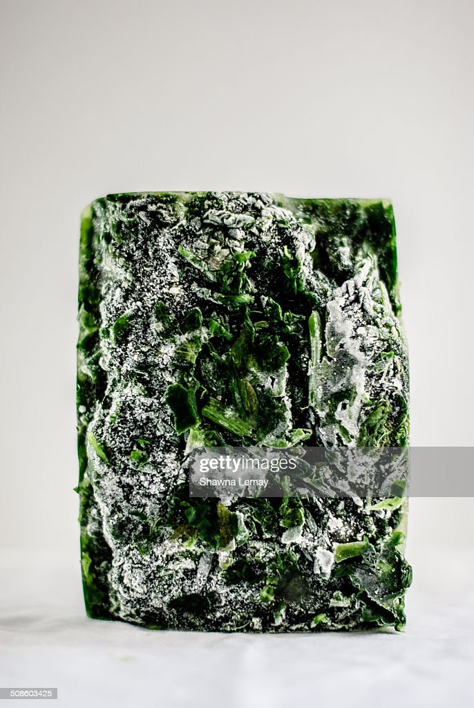 Frozen spinach : Foto de stock