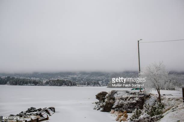 frozen steinsfjorden - winter sports event stock pictures, royalty-free photos & images