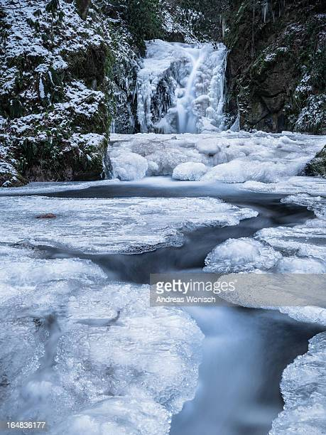 Frozen Waterfall and stream