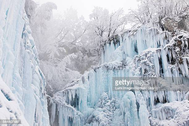 Frozen waterfall, Plitvice Lakes, National Park, Croatia