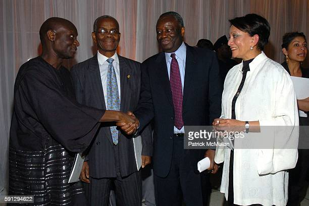 Frtunnu Ocunnu Ambassador Rowe Ibrahim Gambari and Sabiha Foster attend Diamonds for Humanity Gala at Avery Fischer Hall at Lincoln Center on April...