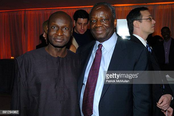 Frtunnu Ocunnu and Ibrahim Gambari attend Diamonds for Humanity Gala at Avery Fischer Hall at Lincoln Center on April 13 2005 in New York City